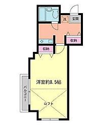 東京都杉並区西荻北3丁目の賃貸マンションの間取り