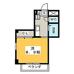 フォレストコーポ[2階]の間取り