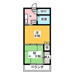 コーポラス中倉[3階]の間取り
