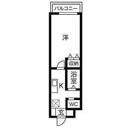A-city港本宮(エーシティミナトホングウ)[4階]の間取り