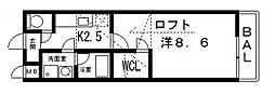 ルーチェ[211号室号室]の間取り