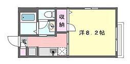 メゾンクレール[102号室]の間取り
