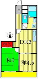 グリーンヒル八ヶ崎[2階]の間取り