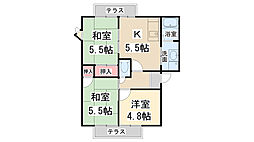 フレグランス宝塚[201号室]の間取り