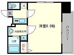 ポルト・ボヌール南堀江ミラージュ[11階]の間取り