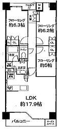 プラウド京都白川通[406号室号室]の間取り