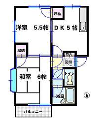 増田ハイツ[C202号室]の間取り