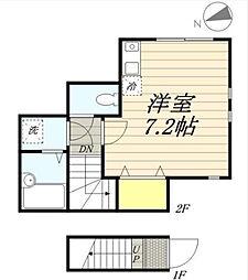 東京都大田区久が原2丁目の賃貸アパートの間取り