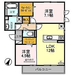 K・Tエルモ[2階]の間取り