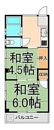 ヨシノハイツ[301号室]の間取り