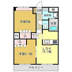 KOWAガーデンハイツ2[2階]の間取り