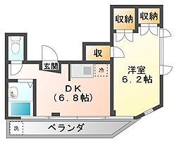 静岡県三島市泉町の賃貸マンションの間取り