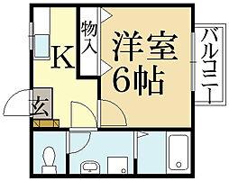 エスタシオン泉川[2階]の間取り