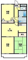 愛知県岡崎市稲熊町字8丁目の賃貸アパートの間取り