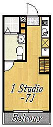 フローラ8[2階]の間取り