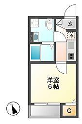 アンフィニ・コート 黒川[1階]の間取り