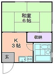 新座ガーデン[203号室]の間取り