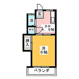 第2コーポ近藤[2階]の間取り