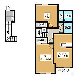 エバープレイス[2階]の間取り