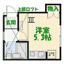 プレシャス亀有[2階]の間取り