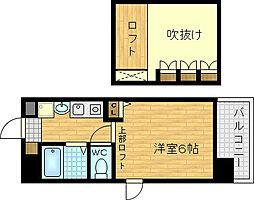 エステムコート梅田東アクアパレス[7階]の間取り
