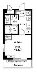 神奈川県川崎市中原区小杉陣屋町1丁目の賃貸マンションの間取り