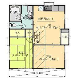 [一戸建] 栃木県足利市福富町 の賃貸【/】の間取り