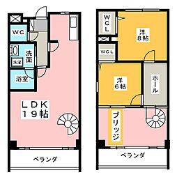 comodo覚王山[2階]の間取り