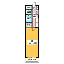 愛知県名古屋市中川区明徳町2丁目の賃貸マンションの間取り