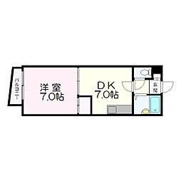 ラ・フォーレ新札幌[4階]の間取り