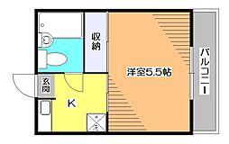 東京都小平市学園西町1の賃貸マンションの間取り