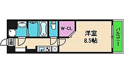 JPレジデンス大阪城東4 7階1Kの間取り