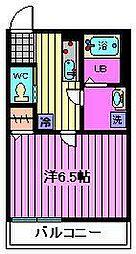 埼玉県さいたま市中央区下落合2丁目の賃貸アパートの間取り