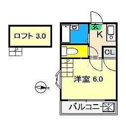 ウィズハウス伊勢崎[1階]の間取り
