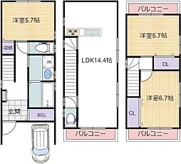 天下茶屋駅 13.3万円