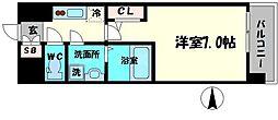 エスリード京橋アミュゼ 9階1Kの間取り