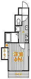 東京都葛飾区新小岩4丁目の賃貸アパートの間取り