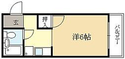 コーポ桐生[2階]の間取り