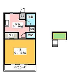 ビューネ清洲[2階]の間取り