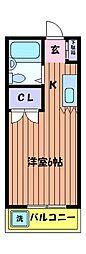 カルム船水[2階]の間取り