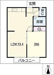 クレセント・カーサ[2階]の間取り