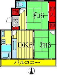 原田マンション[302号室]の間取り