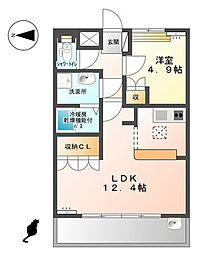 サモードパレスA  −[1階]の間取り