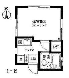 ハウス'93[1B号室]の間取り