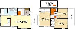 [一戸建] 京都府京都市左京区修学院茶屋ノ前町 の賃貸【/】の間取り