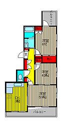 メゾン奥ノ木[2階]の間取り