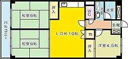 松本ビル[4階]の間取り