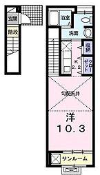 フェリーチェ[2階]の間取り