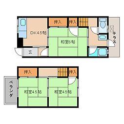 [一戸建] 奈良県葛城市八川 の賃貸【/】の間取り