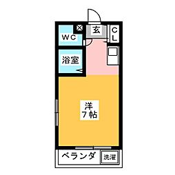 Oasis  Mizuho[4階]の間取り